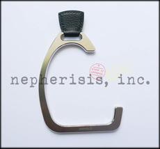 Rare Auth Nwb Hermes Petit H Metal Stirrup Bag Hanger Or Purse Hook Black - $800.00
