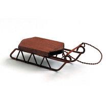 Small Mini Wooden Sled Ornament 4x1.75x1.25 small sled ornament - $4.00