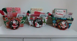 EXCLUSIVE Christmas Holiday Basket Grab Bags assorted cross stitch bundles  - $32.00