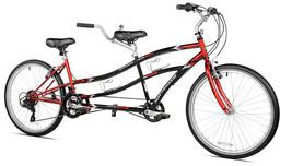 "26"" Tandem Bike Dual Drive Bicycle Cruiser Style 21 Speed Northwoods Red Black - $402.57"