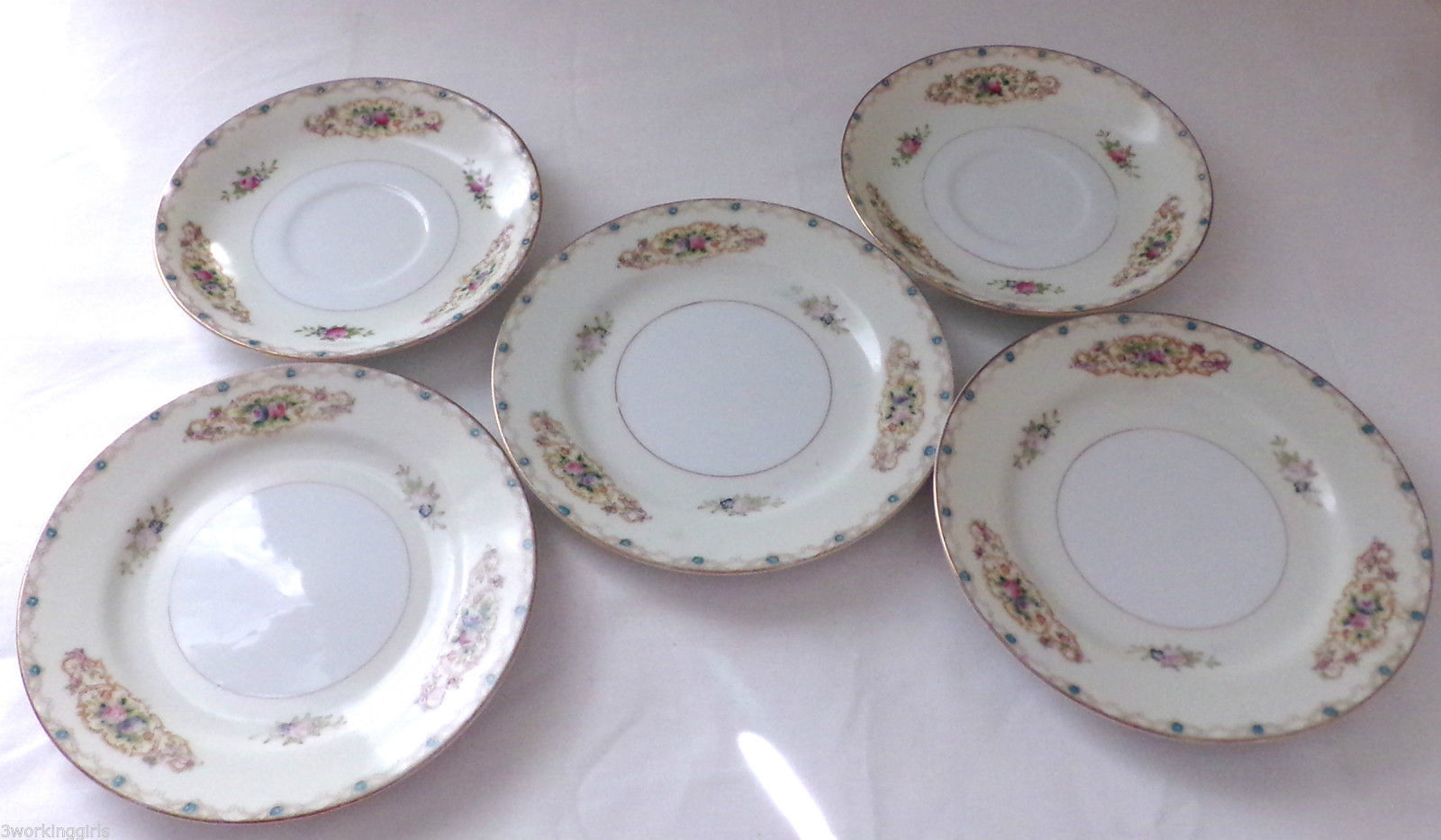5pc Vintage Imperial China Saucers Plates China Dinnerware 2@ 5 1/2\  3@ 6\  Japan & 5pc Vintage Imperial China Saucers Plates and similar items
