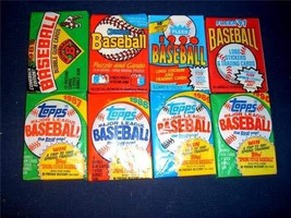 120 Old Factory Sealed MLB Baseball Cards 1987 and Up. Topps, Bowman, Fleer and  - $9.99