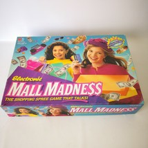 1996 Mall Madness Vtg Working Talking Board Game 99% Complete Missing 3 ... - $59.99
