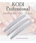 NEW Kodi professional Nailfile Half grey 80/100 For artificial nail - $16.83