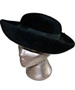 Vintage 1960s Mod Breton Bretton Merrimac Body Black Deluxe Velour Fur F... - $79.99