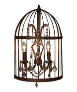 Fabulous Gothic Wall Sconce Metal Iron/Crystal Wall Fixture,31''H. - $529.65