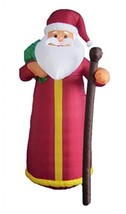 BZB Goods 6 Foot Tall Lighted Christmas Inflatable Santa Claus Decoratio... - $141.56