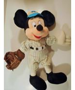 "Disneyland Mickey Mouse Stuffed Baseball Uniform Plush Toy 16"" Vtg - $19.95"