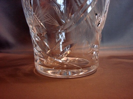 Stunning 10 Inch Tall Crystal Vase~ Inspired by Nature~ Beautiful Cuts~ Thick~He image 2