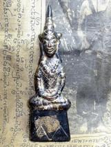 Rare Ghost Case Wood Phra Chai Ngang Khmer Statue LP Wankai Thai Buddha Amulets - $69.99