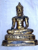 SO Old! Ancient Gold Gild Phra Chiangsaen Zong-Krueng Statue Thai Buddha Amulets - $99.99