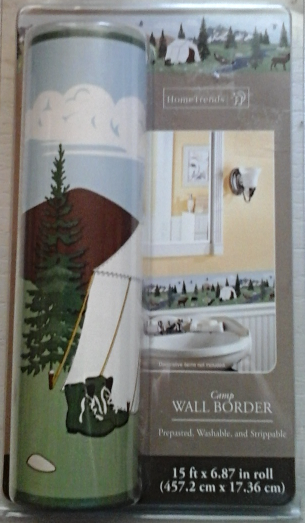 Home trends wallpaper border 51741ins camp wallpaper borders for Home trends wallpaper