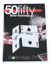 50 Fifty Brian Kennedy Magic Trick Gimmick Card Box Close Up Magic Free ... - $24.74