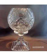 Cut Glass Crystal Pedestal Votive Candle Holder with Square Base - $34.95