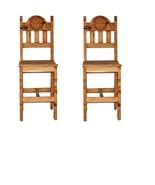 "2 QTY 30"" WOOD SEAT STAR BAR STOOL Rustic Western Real Solid Wood Lodge ... - $395.99"