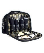 """OAGear 12"""" 4 Person Picnic Set cooler with sophisticated plaid interior ... - £35.86 GBP"""