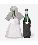 Bride and Groom Wedding Wine Bottle Cover Decor... - $9.90