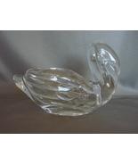 Vintage Crystal Glass Swan Vase Candy Dish Wedding Dip Bowl Princess Hou... - $9.99