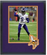 Teddy Bridgewater 2015 Minnesota Vikings - 11 x 14 Team Logo Matted/Fram... - $43.55