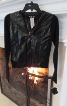 Baby Phat Black Pleather Jacket Size Small Retail $79 - $21.00