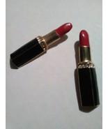 VINTAGE GOLDEN PIN BROOCH ENAMELLED RED LIPSTICK IN BLACK ENAMELLED CASE - $22.00
