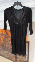 BluHeaven Black Mini Dress or Long Blouse Size Medium Retail $44 - $23.00