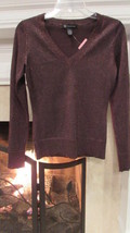 INC International Concepts Brown Long Sleeve Sweater Sz S Compare at $80.00 - $14.52