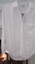 Splendid White Button Down Shirt Size XSmall Compare at $80+ - $23.00