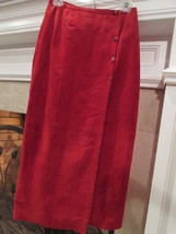 Global Identity Vintage Red Suede Skirt Size 8 - $23.00