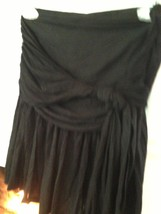 Yuka Strapless Black Blouse Size Medium - $13.00