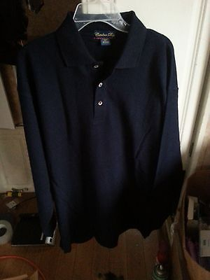 LOT of 10 XL CATALINA BAY Men's Casual Shirt  NAVY - LONG SLEEVE 3-button   NEW