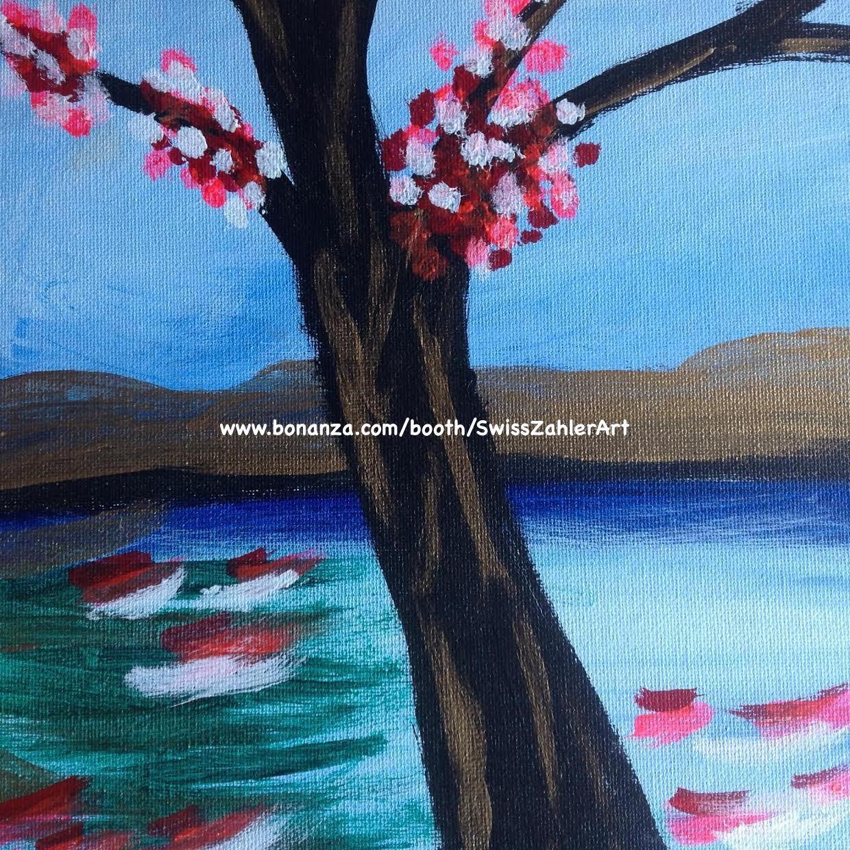 Cherry Blossom Tree  - original acrylic painting