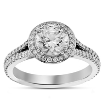Solitaire With Accents Ring Diamond & Sapphire White Gold Finish Pure 92... - £61.01 GBP