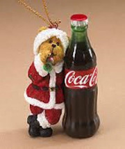 """Boyds Bearstone """"St. Nicklebeary"""" Holiday Ornament-Coca Cola®  Licensed- #919954 - $29.99"""