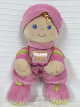 """11"""" Lovey FISHER PRICE Baby's 1st Blonde Hair Blue Eyes Girl Doll Pink R... - $9.85"""