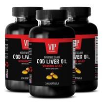 cod liver oil - NORWEGIAN COD LIVER OIL - heart health supplement - 3 Bo... - $47.64