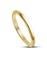 Solid 925 Sterling Silver Anniversary Women's Plain Band Ring 14k Yellow... - £9.89 GBP