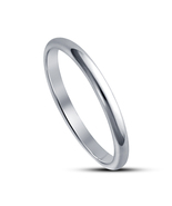 New Fashion 14k White Gold Plated Pure 925 Silver Anniversary Simple Ban... - £9.89 GBP