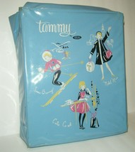 Ideal Tammy Doll Blue Vinyl Carry Case Carrying CUTE Co-Ed Snow Bunny - $9.90