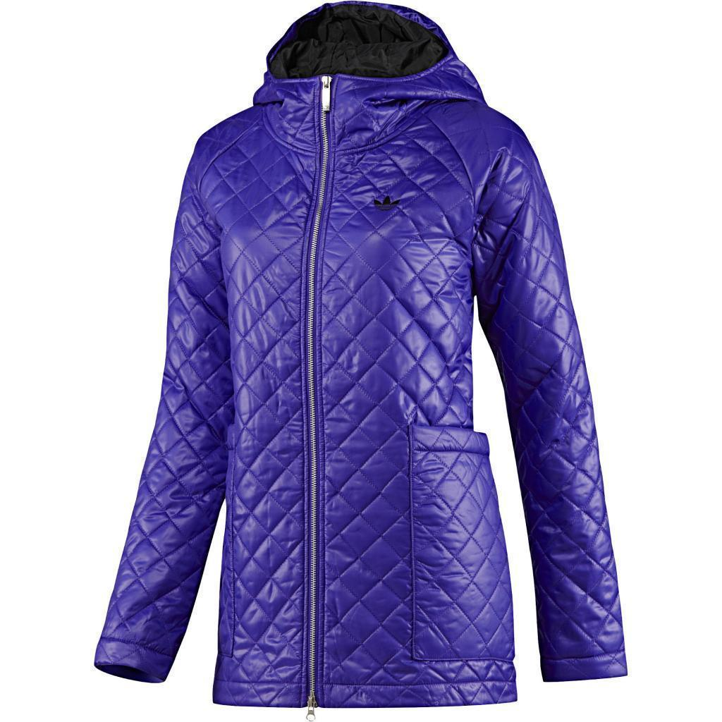 ADIDAS ORIGINALS WOMEN'S 'FEM PADDED PARKA' PURPLE COAT JACKET QUILTED RRP £150