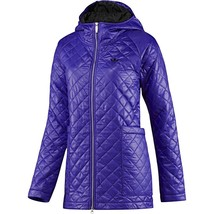 ADIDAS ORIGINALS WOMEN'S 'FEM PADDED PARKA' PURPLE COAT JACKET QUILTED RRP £150 image 1