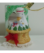 New Lil Chimer Handpainted Goose Bisque Bell Ornament - $3.95