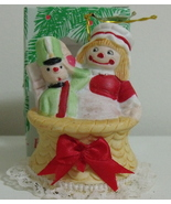 New Lil Chimer Handpainted Doll and Soldier Bisque Bell Ornament - $3.95