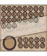 Digital Scrapbooking Alpha  Pearled Circle Set - $4.00
