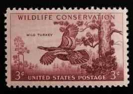 1956 3c Wild Turkey, Wildlife Conservation Scott 1077 Mint F/VF NH - $0.99