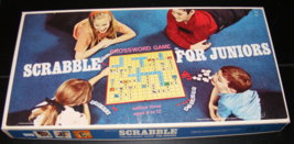 1968 Scrabble for Juniors Edition Three Crossword Game by Selchow & Righter - $35.00