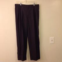 Brooks Brothers Black 100% Wool Dress Pants Slacks Trousers
