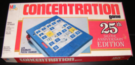1982 Concentration Game 25th Silver Anniversary Edition by Milton Bradley - $36.00
