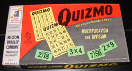 1957 Quizmo An Educational Lotto Game by Milton Bradley - $26.00