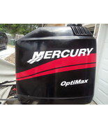 "MERCURY BOAT MOTOR COWL DECAL SET in Red + ""Your Choice of HP Rating"" Optimax - $44.95"